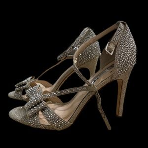 INC CRYSTAL HIGH HEELS size 7.5